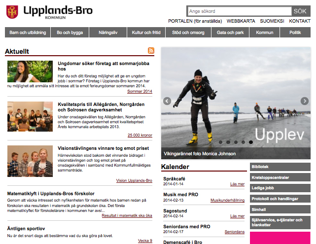 Upplands-Bro web design